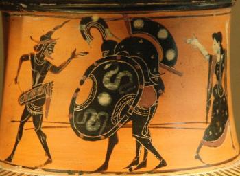 Áyax llevando a Aquiles