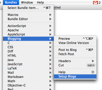 Convierte textmate en tu editor de blogs