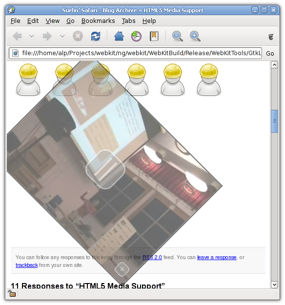 HTML5 video en WebKit