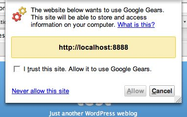 wordpress-google-gears-activate