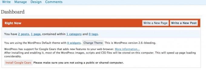 wordpress-google-gears-info