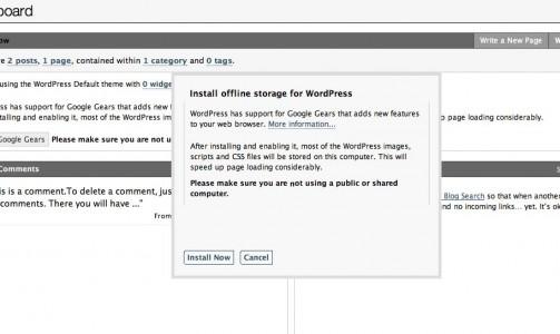 wordpress-google-gears-init