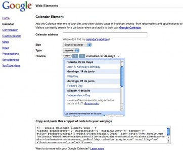 google-web-elements-configuration