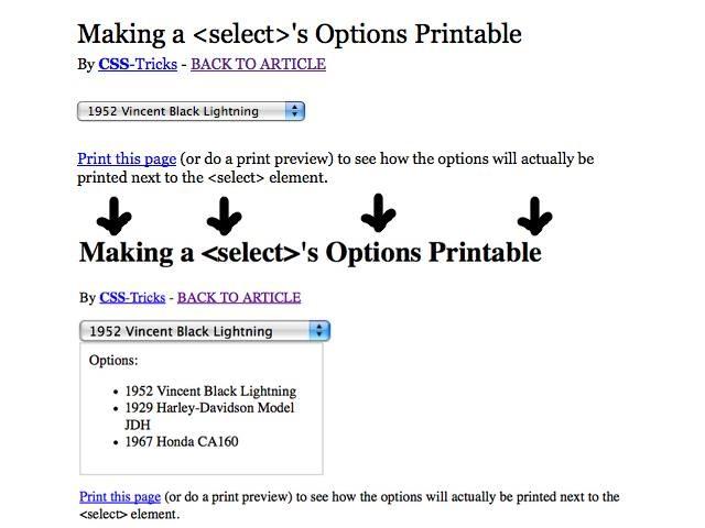 select-printable
